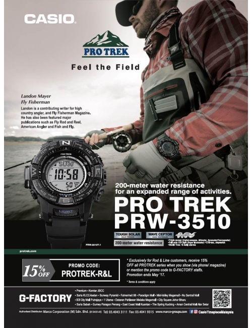 PROTREK PRW-3510-With its various outdoor functions, one would always wonder - how can you go out without Protrek?