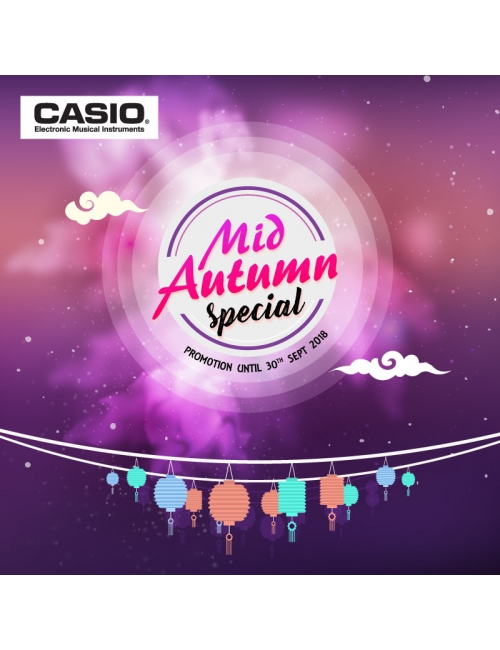 Casio Musical Instruments-September festive season is around the corner! Grab your favourite digital keyboard or piano at the lowest price now! T & C apply. Promotion ends on 30/9/18.