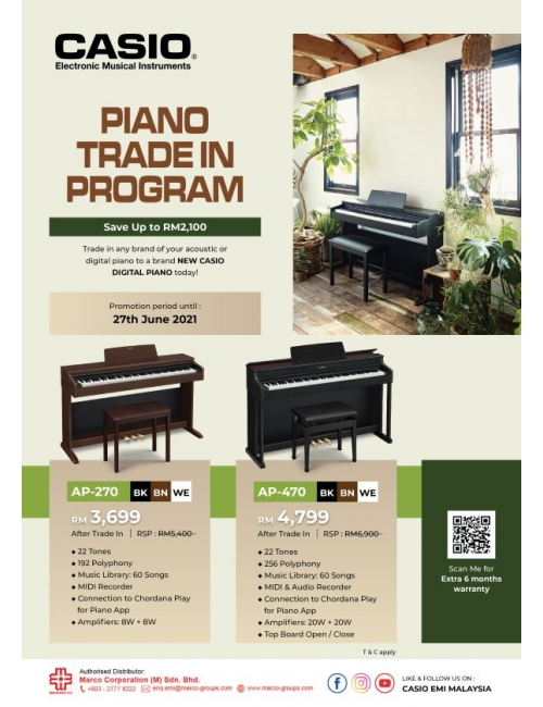 Casio Musical Instruments-Piano Trade In Program