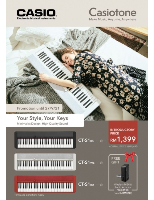 Musical Instruments - New Casiotone Introductory Promotion-New Casiotone - Your Style, Your Keys! Play Casiotone at anytime anywhere!